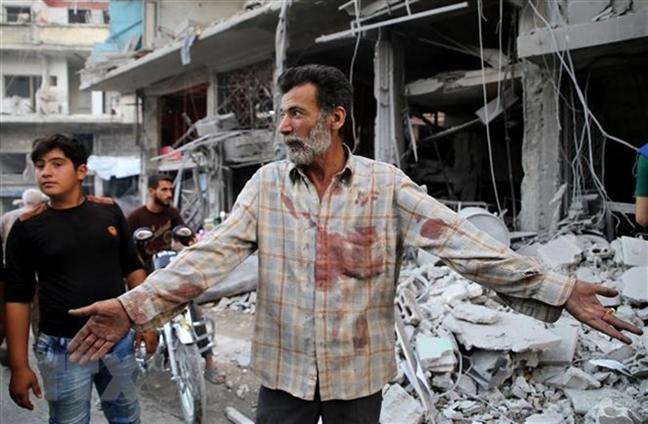 Nga: Phien quan bat coc tre em de dan dung vu tan cong hoa hoc o Idlib