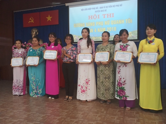 Huyen Nha Be: Hoi thi 'Guong sang phu nu quanh toi'