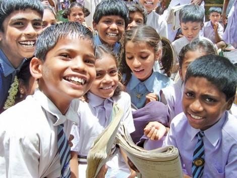 Trẻ em Ấn Độ được dạy để sống hạnh phúc