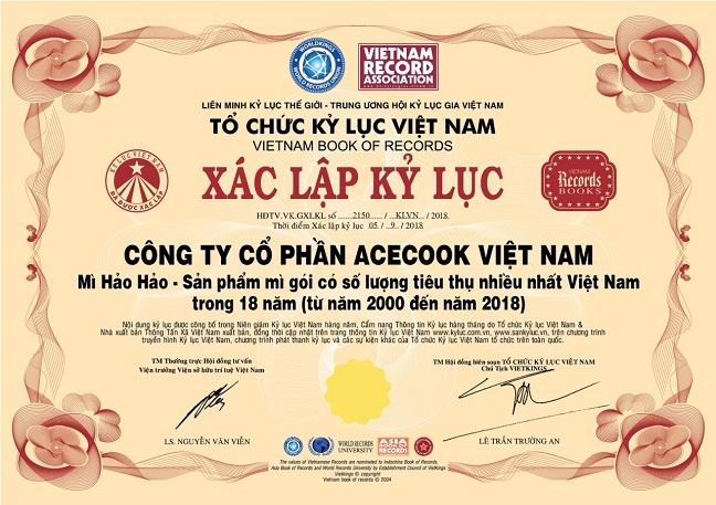 Hao Hao lap ky luc san pham mi an lien duoc tieu thu nhieu nhat Viet Nam