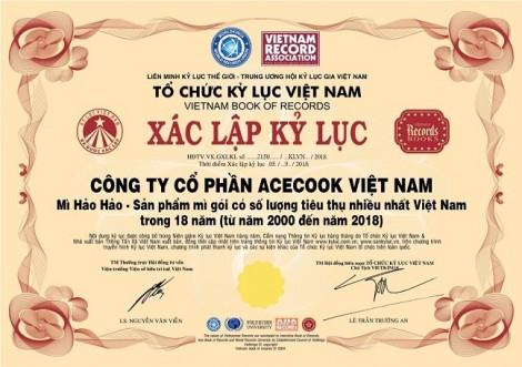 Hảo Hảo lập kỷ lục sản phẩm mì ăn liền được tiêu thụ nhiều nhất Việt Nam