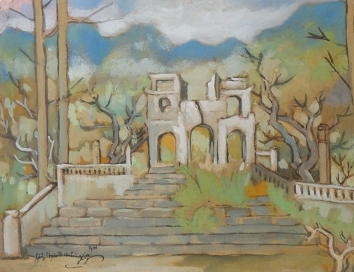 Co gi dac biet trong tranh cua Le Van Xuong?