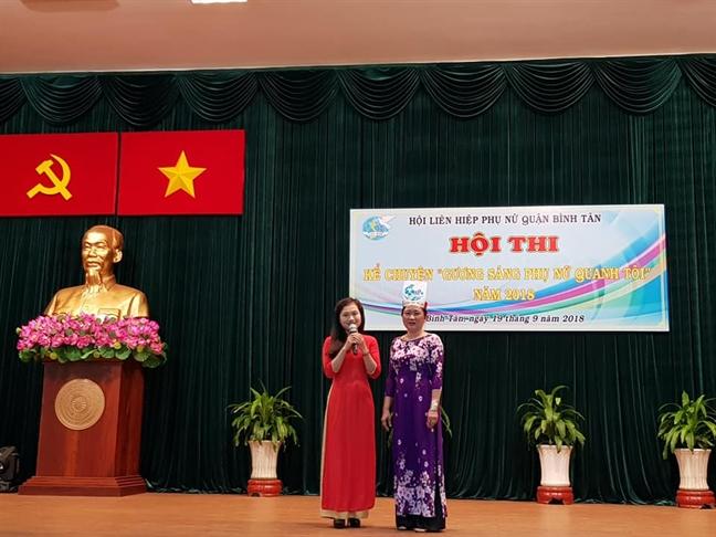 Quan Binh Tan: Phuong An Lac A doat giai nhat Hoi thi Guong sang phu nu quanh toi