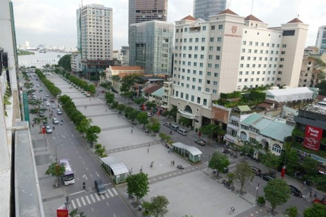 Đề xuất 'nối dài' đường đi bộ Nguyễn Huệ sang công viên Bạch Đằng
