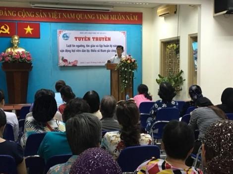 Quận 1: Phụ nữ dân tộc, tôn giáo tập huấn kiến thức pháp luật