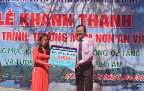 Giáo viên và học sinh TP.HCM đóng góp xây trường mầm non cho đảo Lý Sơn