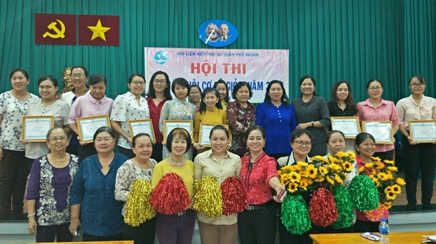Quan Phu Nhuan: Phuong 1 doat giai nhat hoi thi 'Can bo Hoi Phu nu co so gioi'