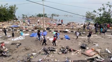 Động đất, sóng thần tại Indonesia: 384 người chết, hàng trăm người bị thương