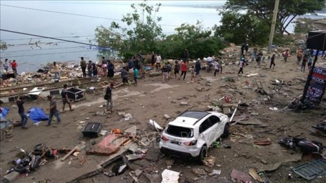 Động đất, sóng thần tại Indonesia: Chưa có thông tin người Việt Nam bị thương vong