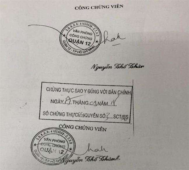Vu phat hien van phong cong chung gia: Giam doc So Tu phap TP.HCM nhan trach nhiem