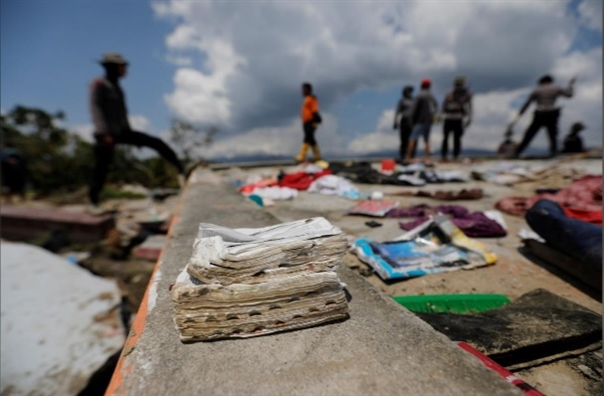 Indonesia: 80 tre em thiet mang va mat tich khi nha tho truot xa 2km, do sap
