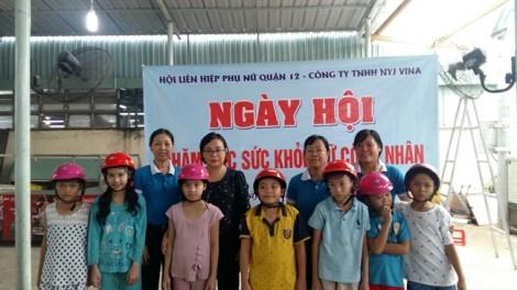 Quận 12: Nhiều hoạt động chăm lo nữ công nhân