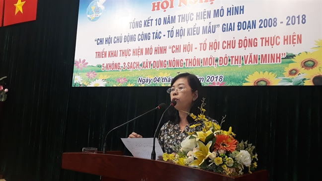 Binh Thanh: Thuc hien hon 1.500 cong trinh tuong tro hoi vien phu nu
