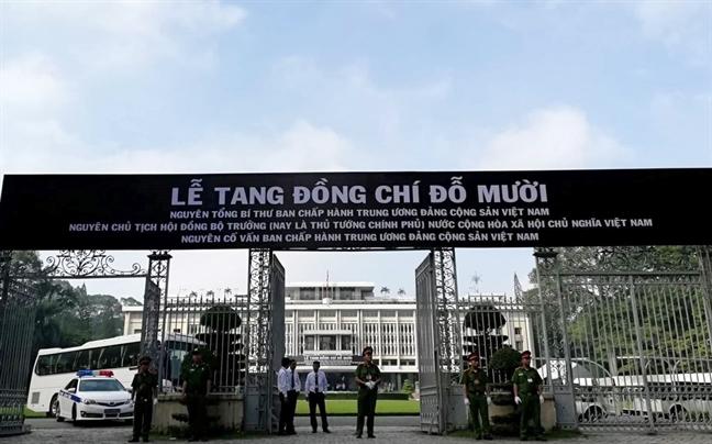 Tang le nguyen Tong bi thu Do Muoi to chuc theo nghi thuc Quoc tang