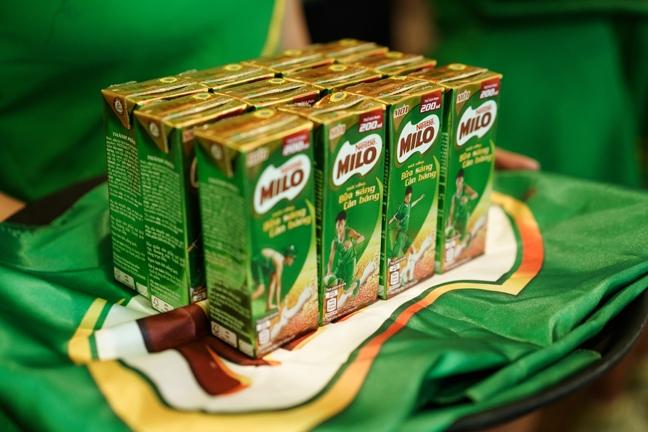 Nestle Milo ra mat thuc uong bua sang cho tre