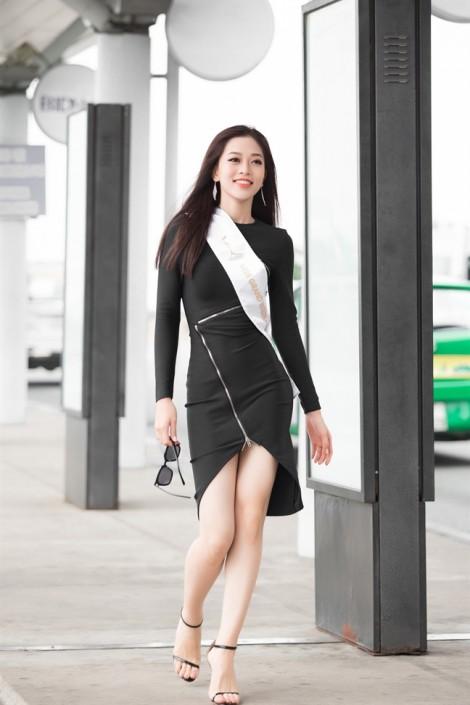 Á hậu Phương Nga mang 100 kg hành lý thi 'Hoa hậu Hoà bình Quốc tế 2018'