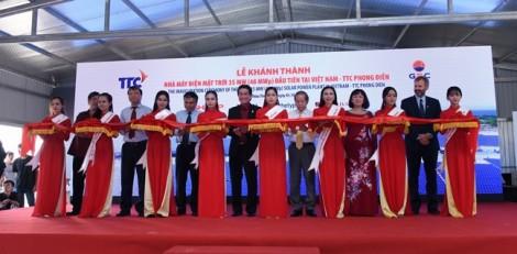 Thành Thành Công khánh thành nhà máy điện mặt trời 35 MW đầu tiên tại Việt Nam