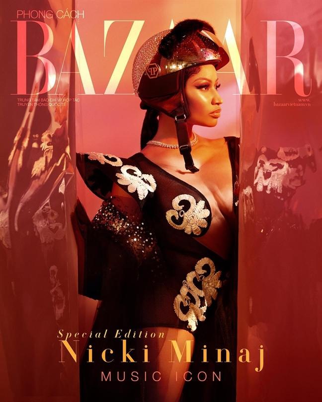 Nicki Minaj dien trang phuc cua nha thiet ke Viet