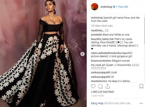 Nicki Minaj diện trang phục của nhà thiết kế Việt