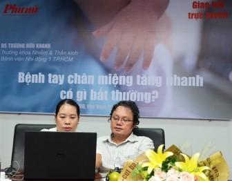 Giao lưu trực tuyến 'Bệnh tay chân miệng tăng nhanh, có gì bất thường?'