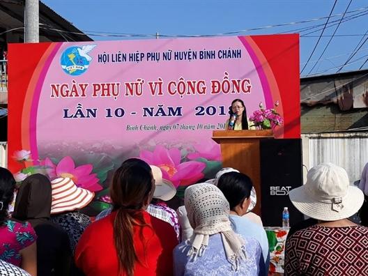 Huyen Binh Chanh: Nhieu phong trao thi dua chao mung ngay thanh lap Hoi