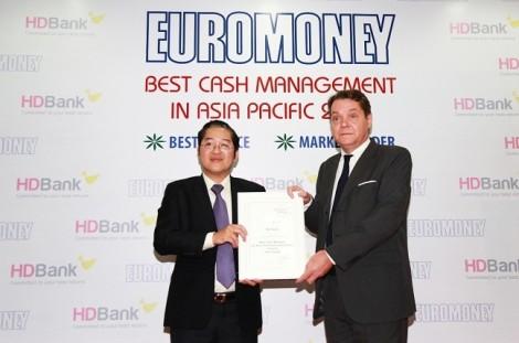 HDBank – Ngân hàng có dịch vụ quản lý tiền mặt tốt nhất châu Á – Thái Bình Dương năm 2018