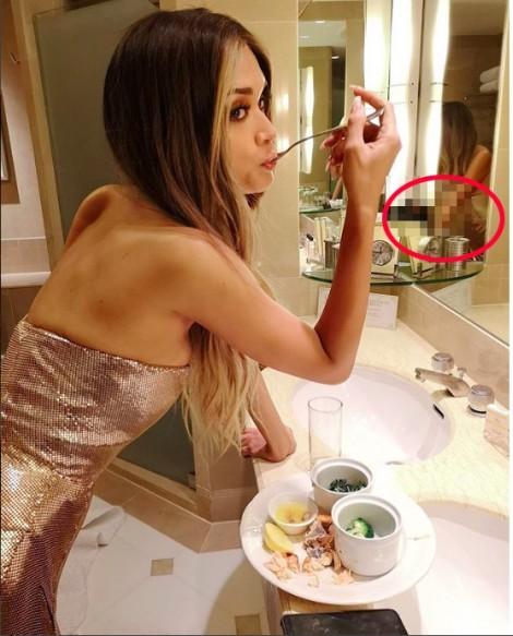 Hoa hậu Hoàn vũ Pia đăng ảnh nhạy cảm trên mạng xã hội?