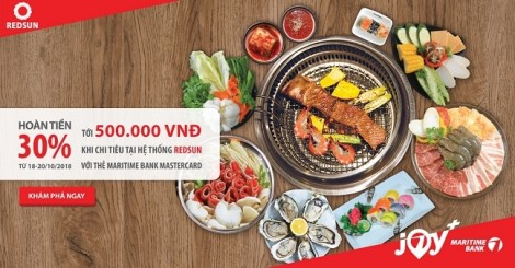 Thưởng thức ẩm thực châu Á dịp 20/10 và nhận hoàn tiền 500.000đ từ Maritime Bank