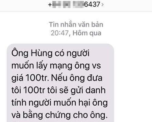 Vu nhan tin tong tien Van phong doan Dai bieu Quoc hoi: Cong an cac tinh vao cuoc