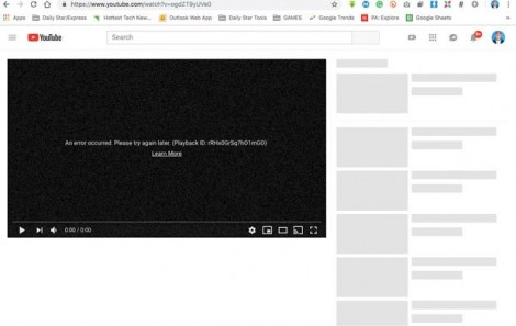 YouTube lỗi trên toàn cầu, hàng triệu người dùng bức xúc