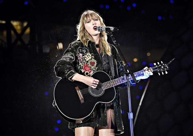 Taylor Swift la cam hung de nu gioi choi guitar