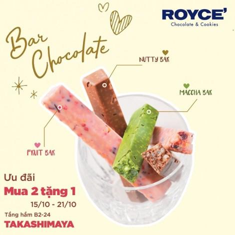 Săn khuyến mãi 'khủng' mua 2 tặng 1 từ  thương hiệu Nhật Royce' Chocolate
