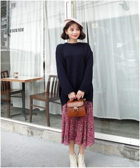 Cách phối áo len cực sành điệu cho nàng công sở ngày lạnh