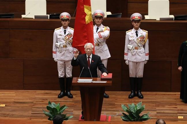 Tan Chu tich nuoc Nguyen Phu Trong chia se sau khi nhan nhiem vu