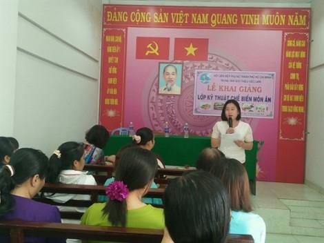 Huyện Bình Chánh: Mở lớp kỹ thuật chế biến món ăn