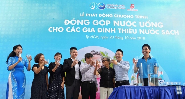 P&G lan toa chuong trinh 'Nuoc uong sach cho tre em' den cong dong