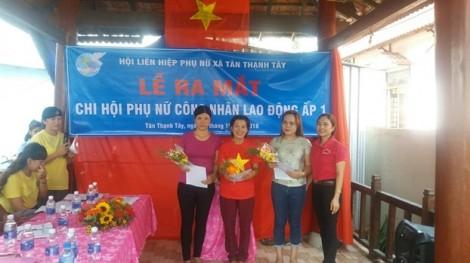 Huyện Củ Chi: Ra mắt thêm một chi hội Phụ nữ công nhân lao động