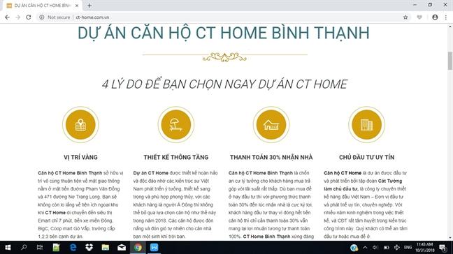 Du an CT Home, Q.Binh Thanh: Phap ly '3 khong' van ban can ho ra thi truong?