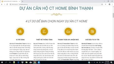 Dự án CT Home, Q.Bình Thạnh: Pháp lý '3 không' vẫn bán căn hộ ra thị trường?