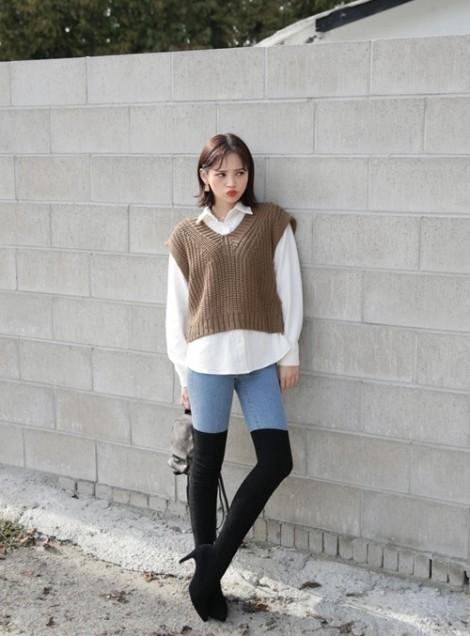 Áo len ghi lê - món đồ sành điệu, trẻ trung mùa lạnh