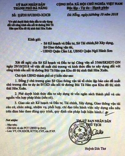 Tung van ban gia thoi gia dat, UBND TP.Da Nang de nghi dieu tra xu ly nghiem