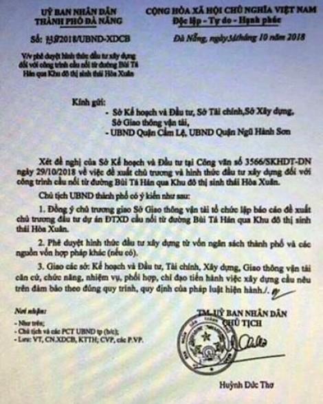 Tung văn bản giả thổi giá đất, UBND TP.Đà Nẵng đề nghị điều tra xử lý nghiêm