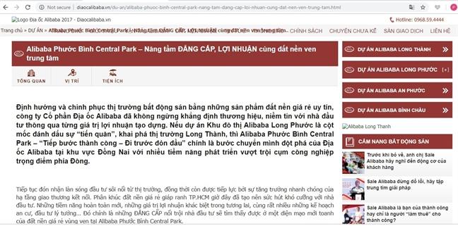 Ngung giai quyet tat ca thu tuc dat dai cac thua dat do Cong ty Alibaba co dau hieu ban 'lui'