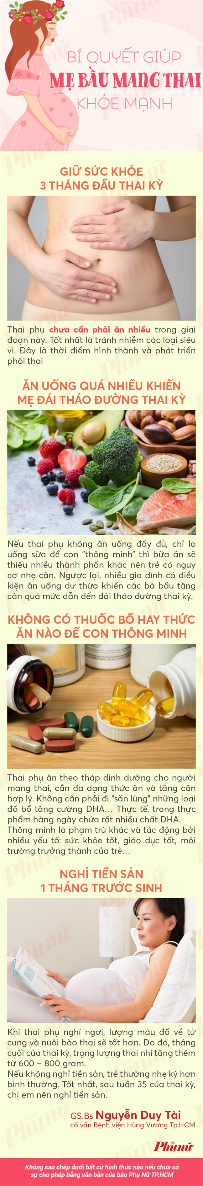 Muon sinh con khoe manh thong minh hay lam theo cach nay