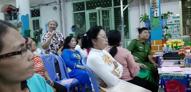 Quan 5: Phu nu la nong cot trong cac hoat dong huong ung ngay hoi dai doan ket toan dan toc