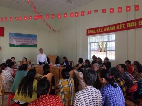 Phụ nữ xã Long Hòa, huyện Cần Giờ đối thoại với chính quyền về quản lý đất đai và xây dựng