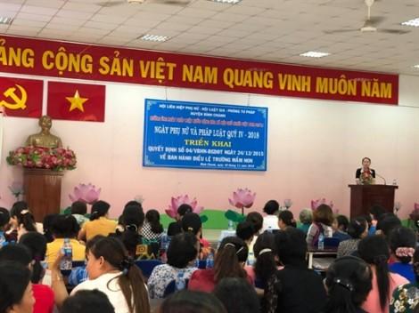 Huyện Bình Chánh: Hơn 150 hội viên tham gia Ngày Phụ nữ và pháp luật
