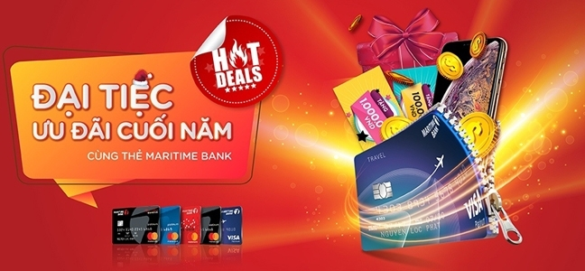 Chu the tin dung nhan hoan tien va iPhone XS Max tu 'Dai tiec uu dai cuoi nam cung Maritime Bank'