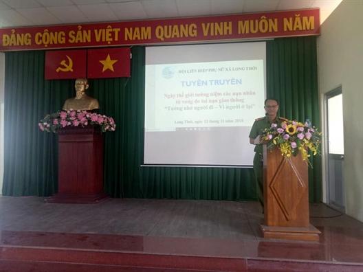 Huyen Nha Be: Huong ung Ngay The gioi tuong niem cac nan nhan tu vong do tai nan giao thong