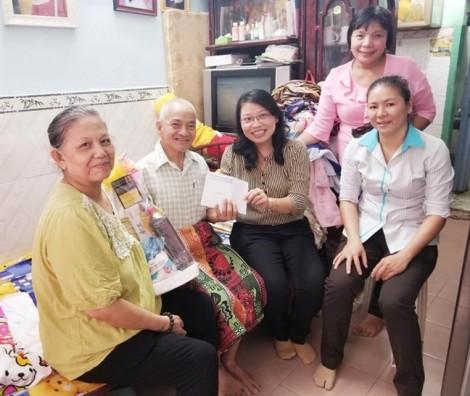 Bình Thạnh: thăm hỏi gia đình cán bộ hội viên bị tai nạn giao thông